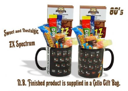ZX Spectrum Keyboard Mug with or without a Cool selection of 80's Sweets